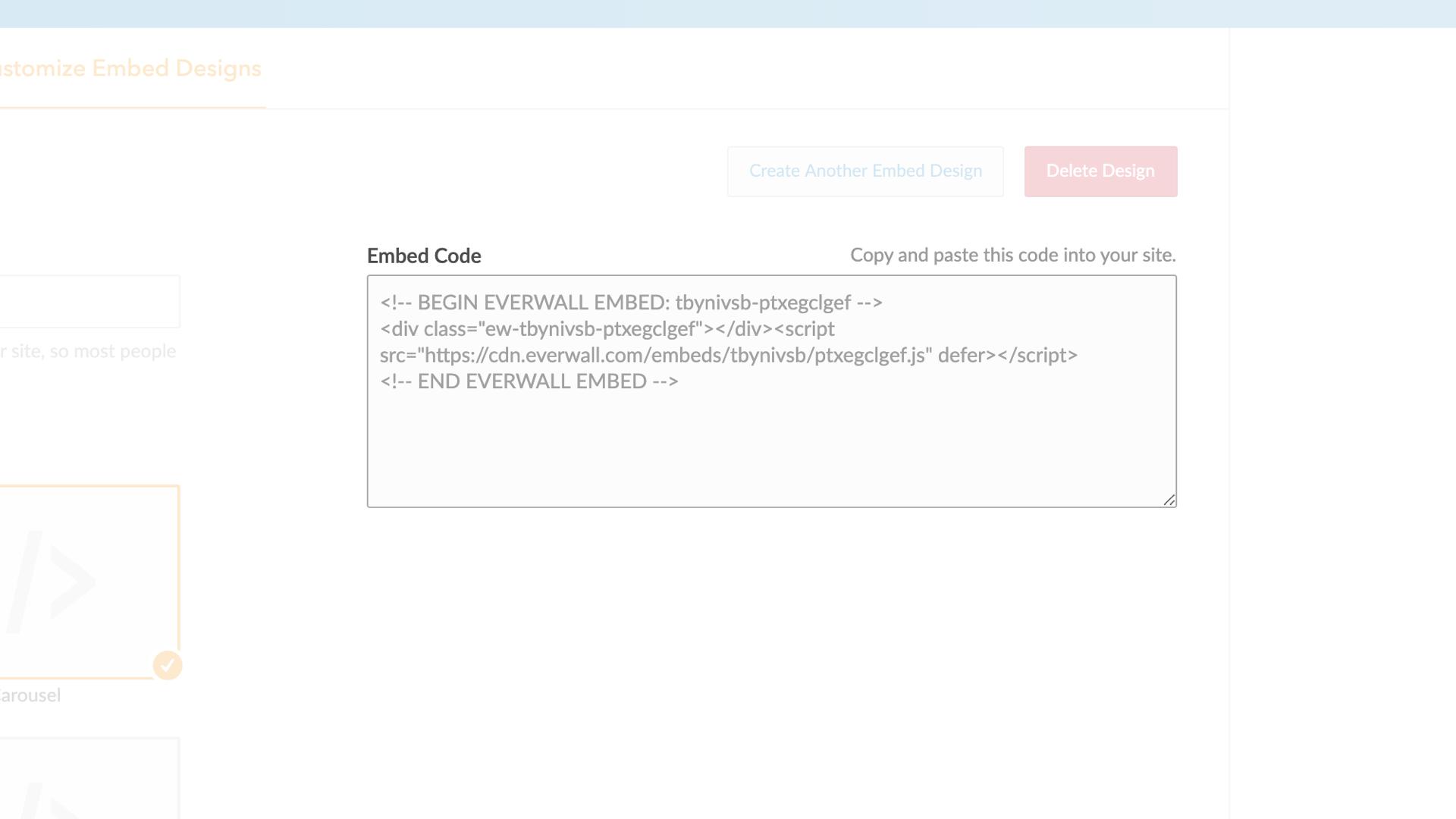 Social Media Hub Embed Code Example