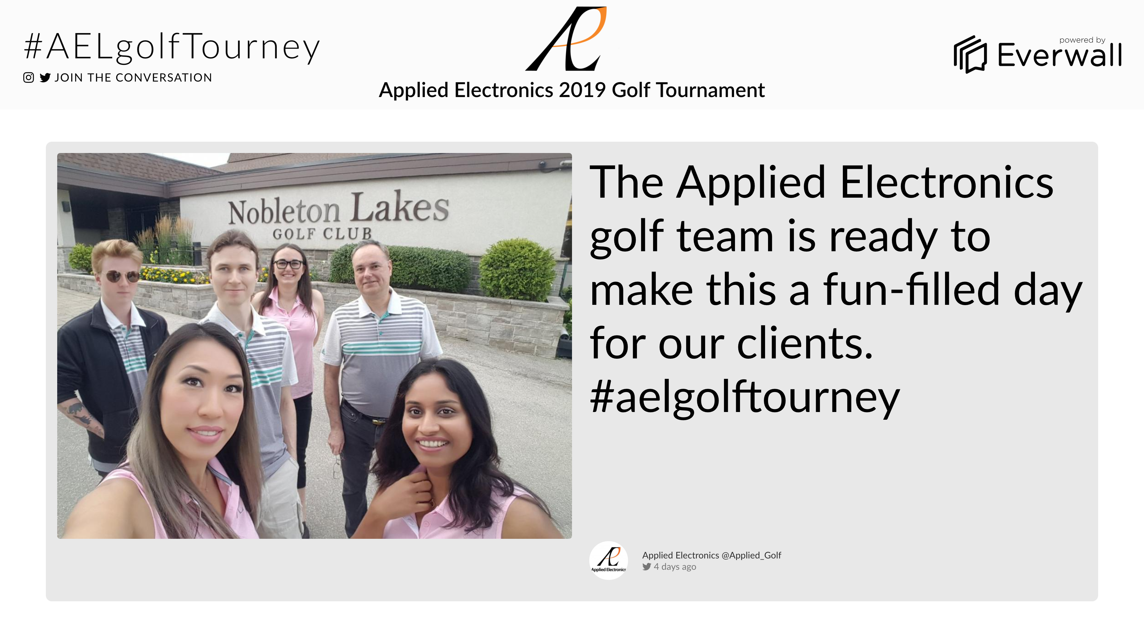 Applied Electronics Golf Tournament
