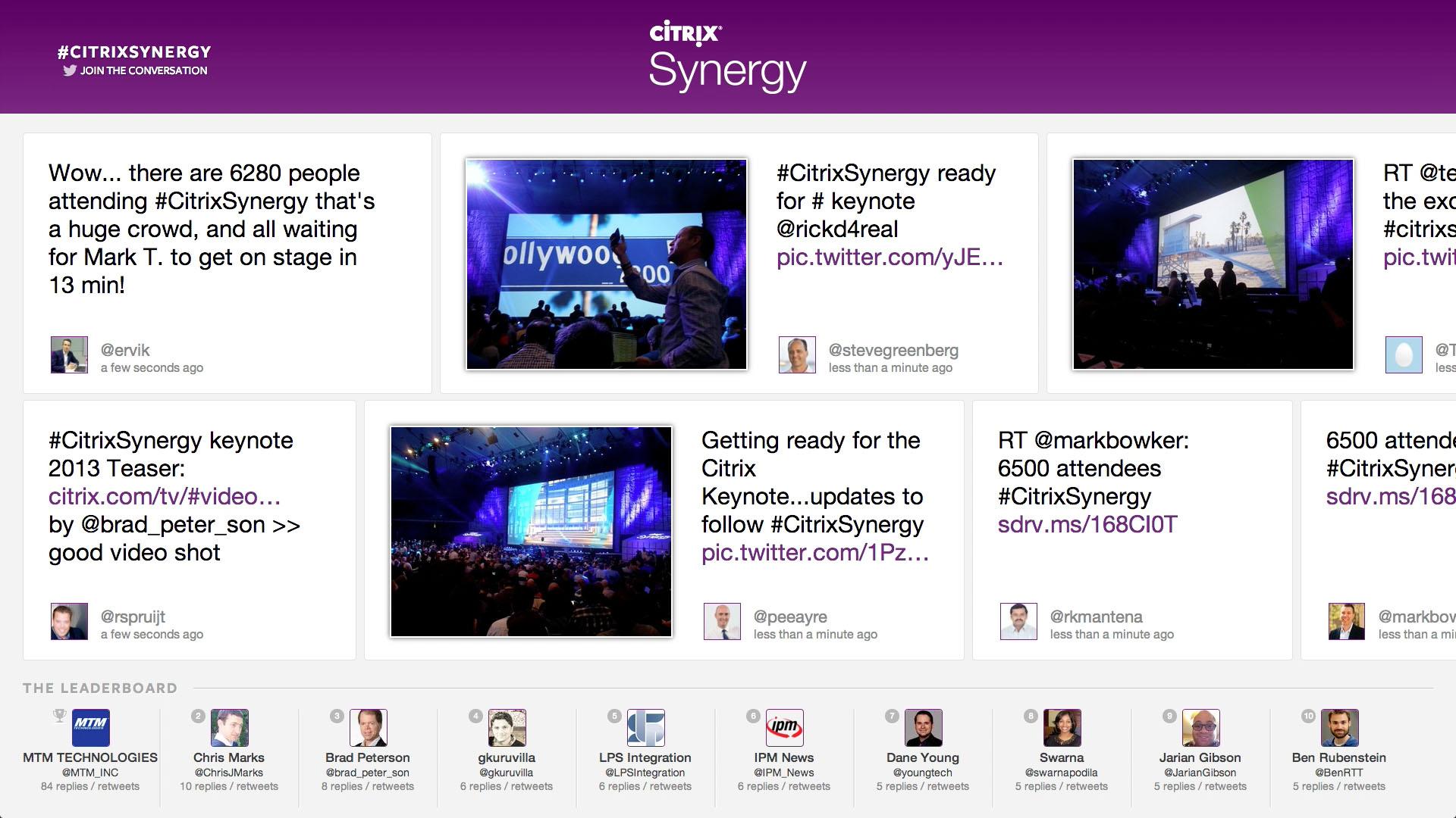 Citrix Social Wall Screenshot