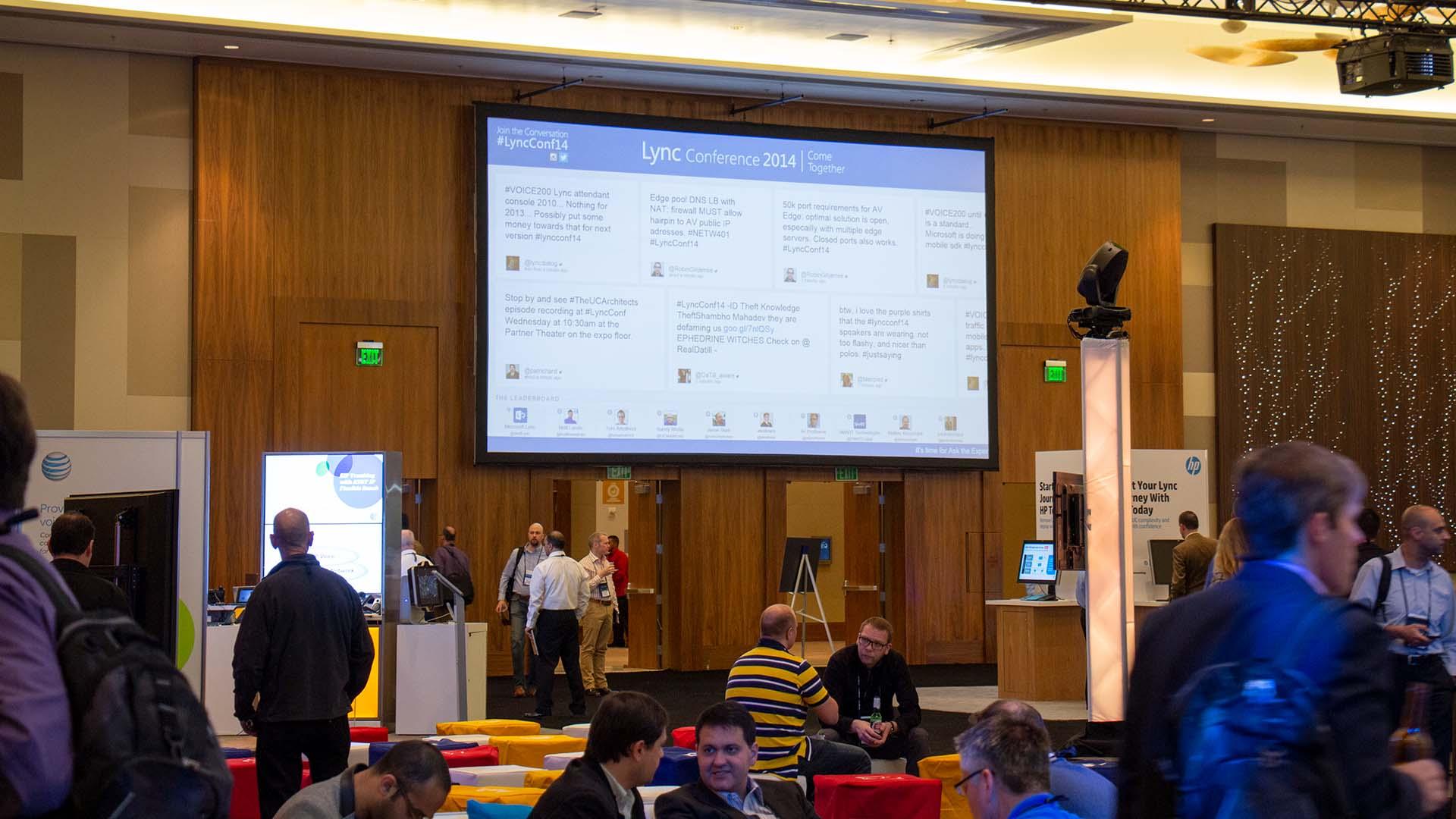 Microsoft Lync Conference Main Entrance