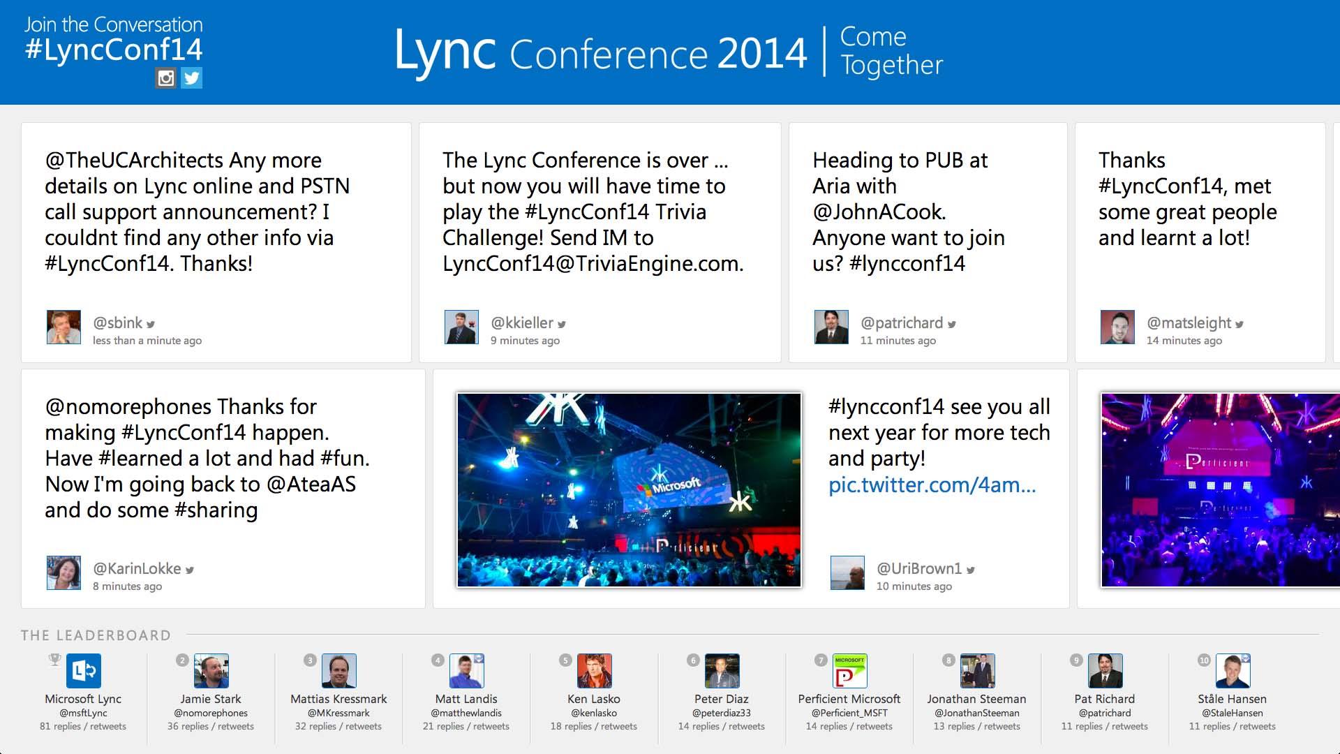 Microsoft Lync Social Wall