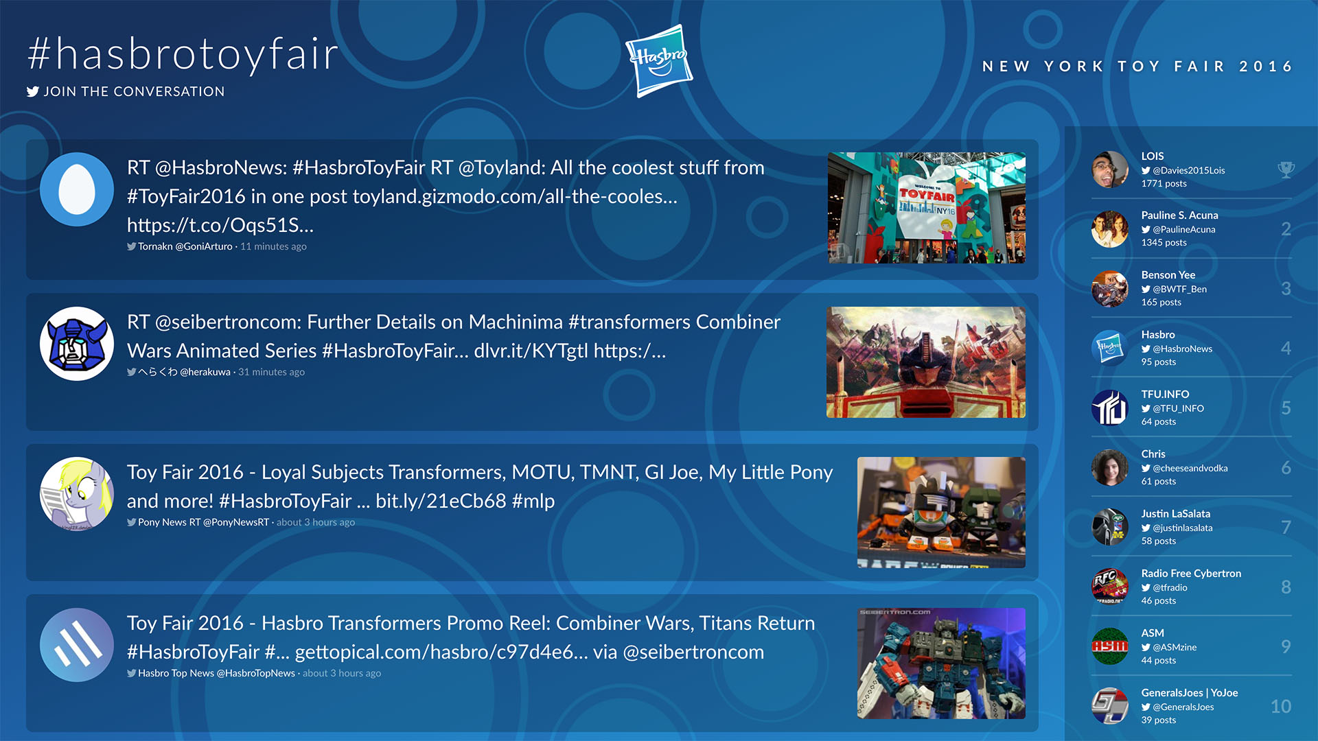Hasbro Toy Fair 2016 Screenshot