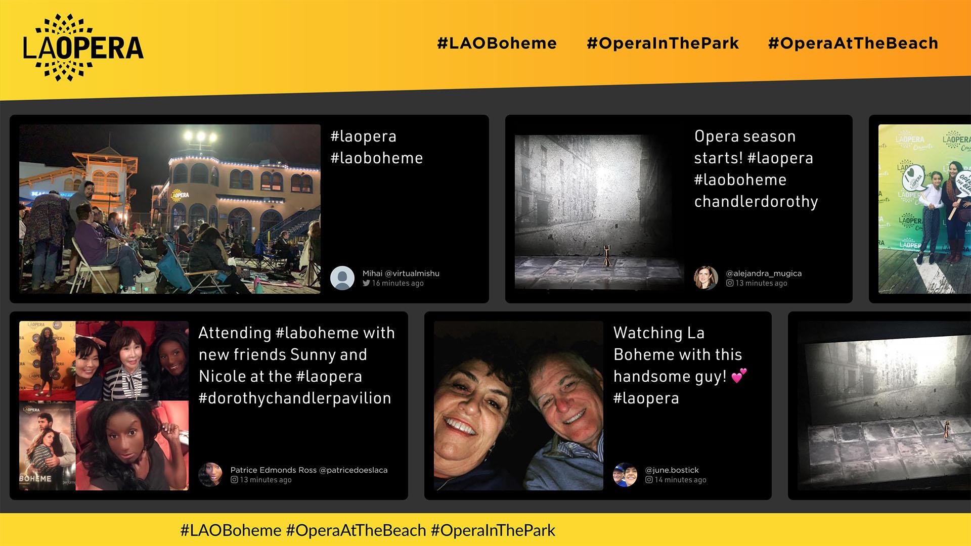 LA Opera Social Wall