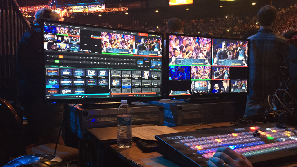 Newtek TriCaster With Everwall Lower Third Activated
