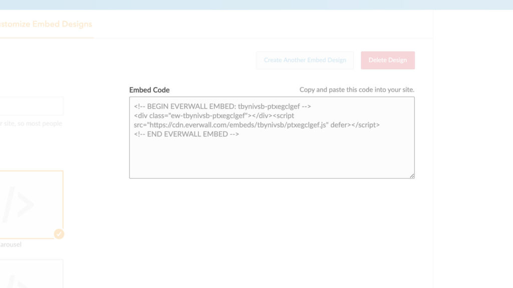 Embed Code Example for Virtual Events